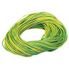 PVC Sleeving Green/Yellow 2mm 100m Length