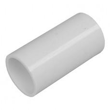 20mm Straight Coupler White Plastic