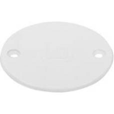 Circular Lid White Plastic