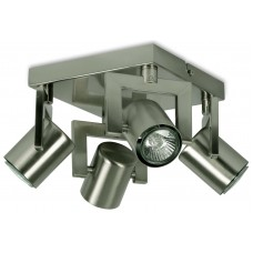 Square 4 Light Spotlight Stainless Steel