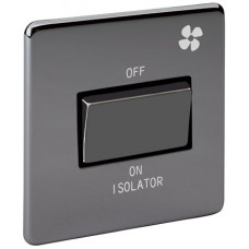 Screwless Magnetic Black Nickel Fan Isolator