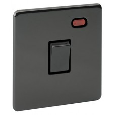 Screwless Magnetic Black Nickel Plate Switch