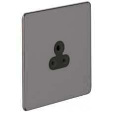 Screwless Magnetic Black Nickel Round Pin Socket Outlet