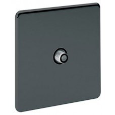 Screwless Magnetic Black Nickel Satellite Socket