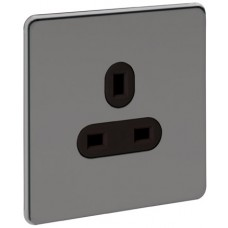 Screwless Magnetic Black Nickel Socket Outlet