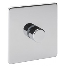 Screwless Magnetic Polished Chrome 1 Gang Dimmer Switch