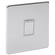 Screwless Magnetic Polished Chrome 20A Switch