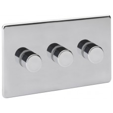 Screwless Magnetic Polished Chrome Dimmer Switch