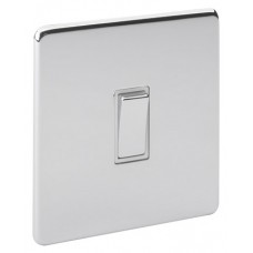 Screwless Magnetic Polished Chrome Plate Switch