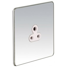 Screwless Magnetic Polished Chrome Round Pin Socket Outlet