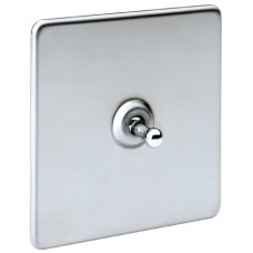 Screwless Magnetic Polished Chrome Toggle Plate Switch