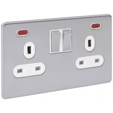 Screwless Magnetic Stainless Steel Socket Outlet