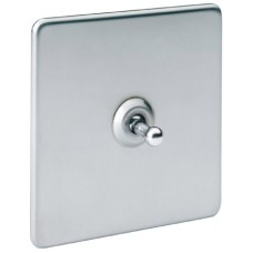 Screwless Magnetic Stainless Steel Toggle Plate Switch