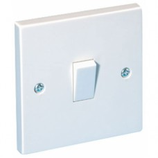 1 Gang Plate Switch White