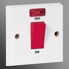 Cooker Switch 45a 1g with neon