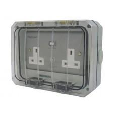 Weatherproof Twin RCD Socket IP55