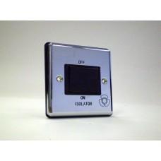 1g 3 Pole Fan Isolator Switch Polished Chrome with Black Insert