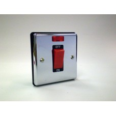 1g 45a Switch with Neon Polished Chrome with Black Insert