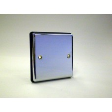 1g Blank Plate Polished Chrome with Black Insert
