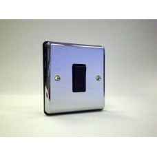 1g Intermediate Plate Switch Polished Chrome with Black Insert