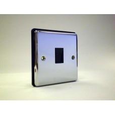 1g Telephone Socket(Master) Polished Chrome with Black Insert
