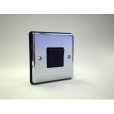 2g 2w Plate Switch Polished Chrome with Black Insert