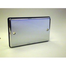 2g Blank Plate Polished Chrome with Black Insert