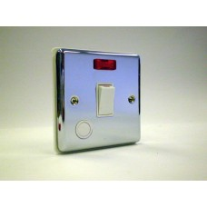 1g 20a Double Pole Switch Polished Chrome with White Insert