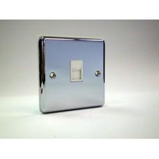 1g Telephone Socket (Master) Polished Chrome with White Insert