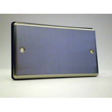 2g Blank Plate Brushed Chrome with Black Insert