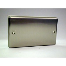 2g Blank Plate Brushed Chrome with White Insert