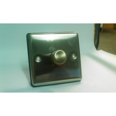 1g 2w 400w Dimmer Switch Brushed Chrome with Black Insert