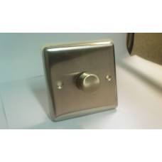 1g 2w 400w Dimmer Switch Brushed Chrome with White Insert
