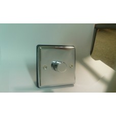 1g 2w 400W Dimmer Switch Polished Chrome with Black Insert