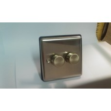 2g 2w 400w Dimmer Brushed Chrome with Black Insert