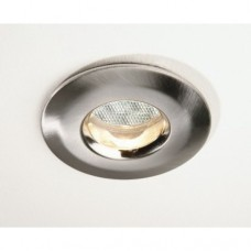 Fire Rated GU10 Downlighter  Brushed Chrome