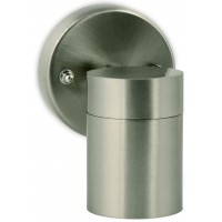 Mains Voltage Single Spotlight Stainless Steel